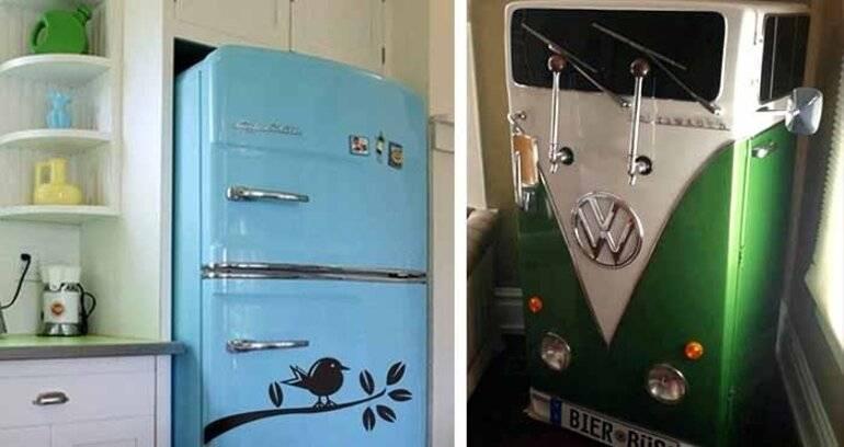 Не побоялась и перекрасила холодильник в цвет кухни, родители в восторге