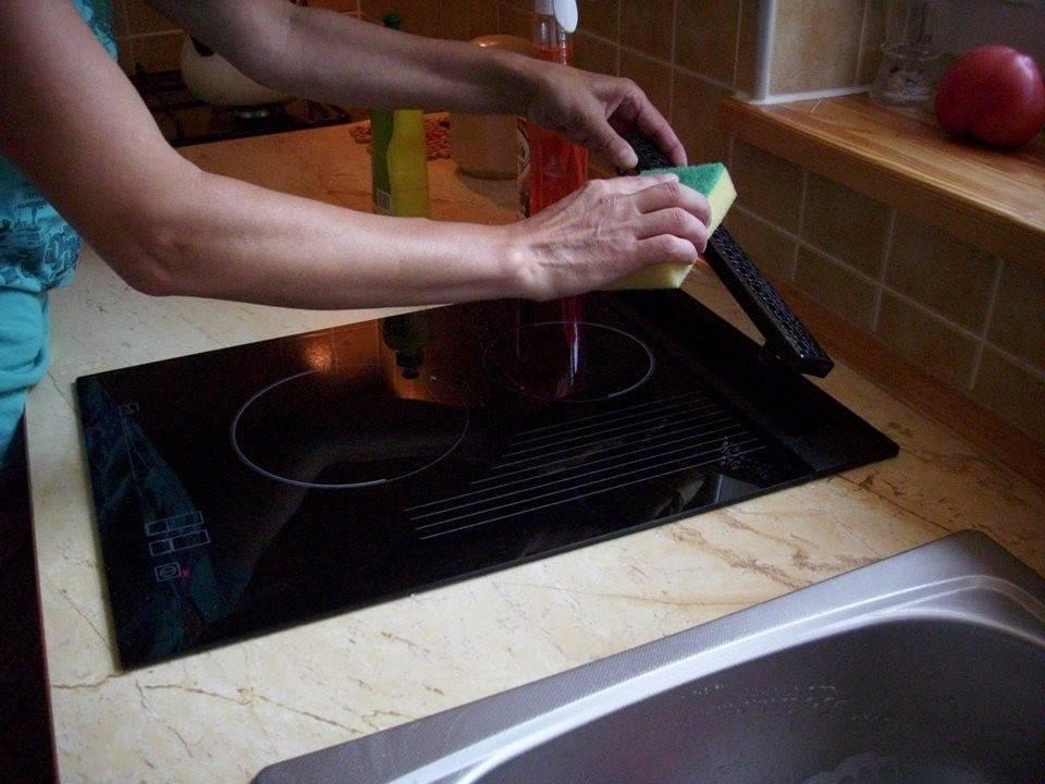 Как очистить индукционную плиту от жира, нагара, налета и других загрязнений