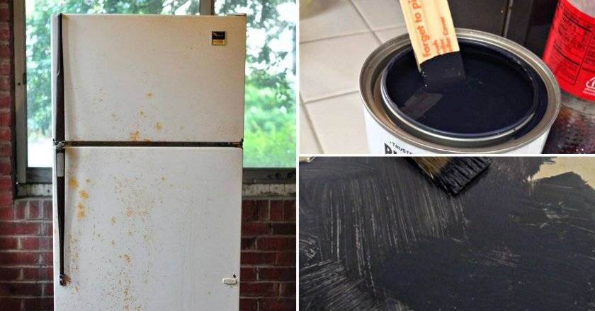 Покраска холодильника своими руками