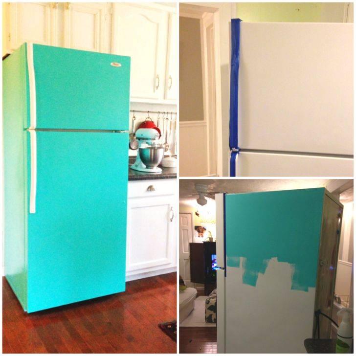 Как покрасить холодильник в домашних условиях своими руками, , можно ли снаружи акриловой краской, чем в другой цвет,
