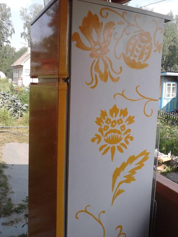 Как и чем покрасить холодильник в домашних условиях? Фото и видео инструкции