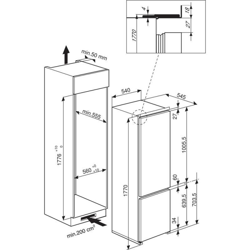 Как сделать шкаф для встроенного холодильника и обычного
