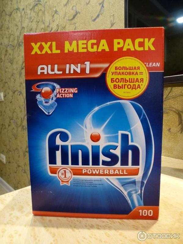 Обзор таблеток финиш (finish) для посудомоечной машины