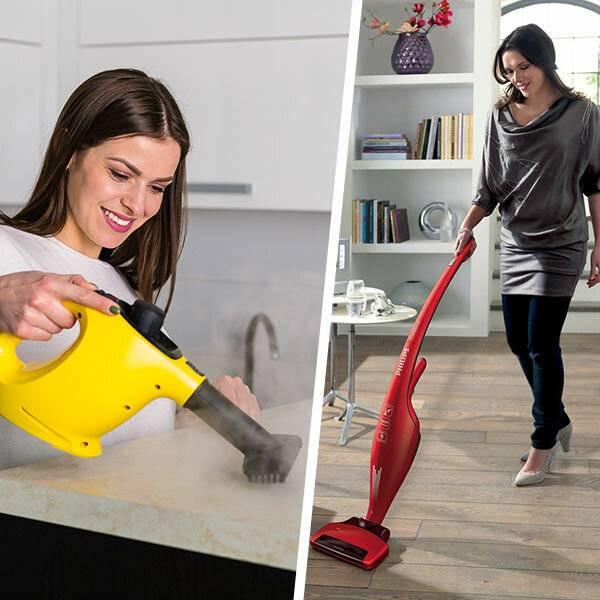 Что лучше: пароочиститель или моющий пылесос, сравнение