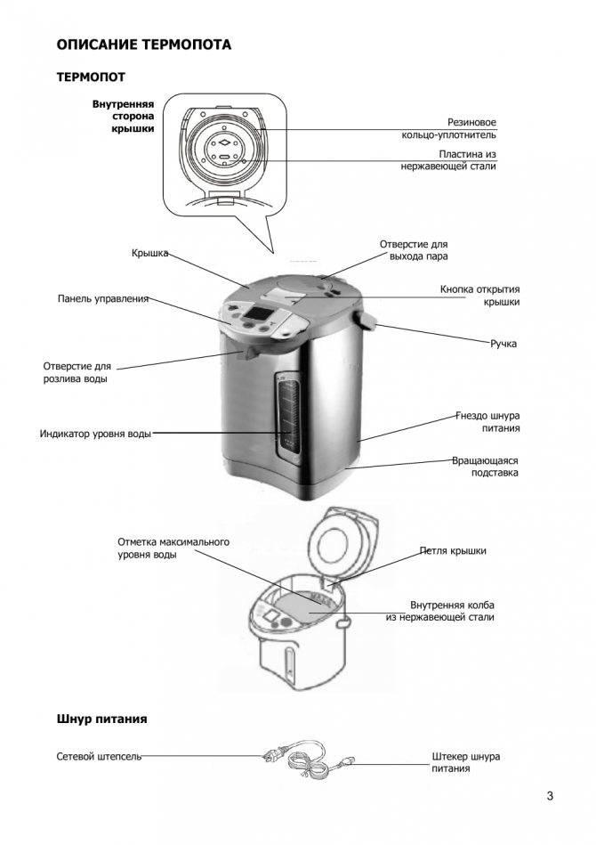 Термопот – как правильно выбрать, пользоваться и очистить, основные причины поломок